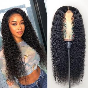 9A Grade 13*4 /13*6/360 Lace Front Jerry Curly Human Hair Wig on Sale , 180%/150 Densit