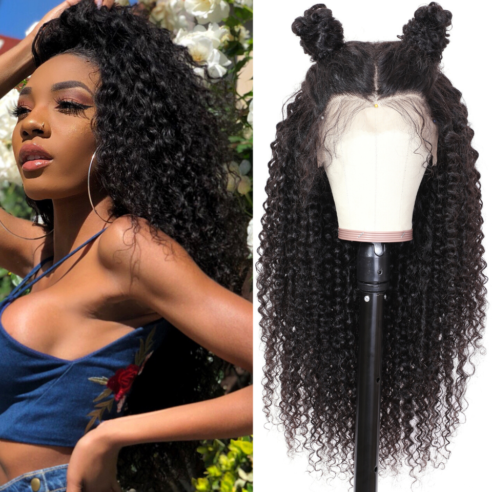 9A Grade 13*4 /13*6/360 Lace Front Jerry Curly Human Hair Wig on Sale , 180%/150 Densit 10