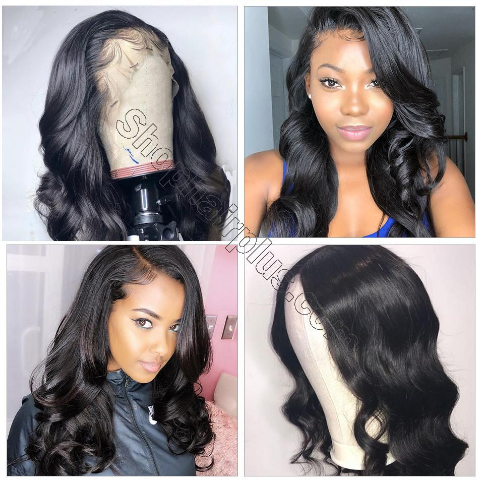 9A Grade 13*4/13*6/360 Lace Front Body Wave Human Hair Wig 180%/150% Densit 7