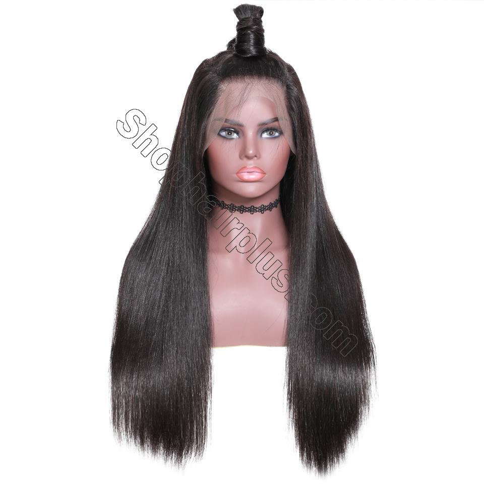 9A Grade 13*4/13*6/360 Lace Front Silky Straight Human Hair Wig, 180%/150% Densit 2