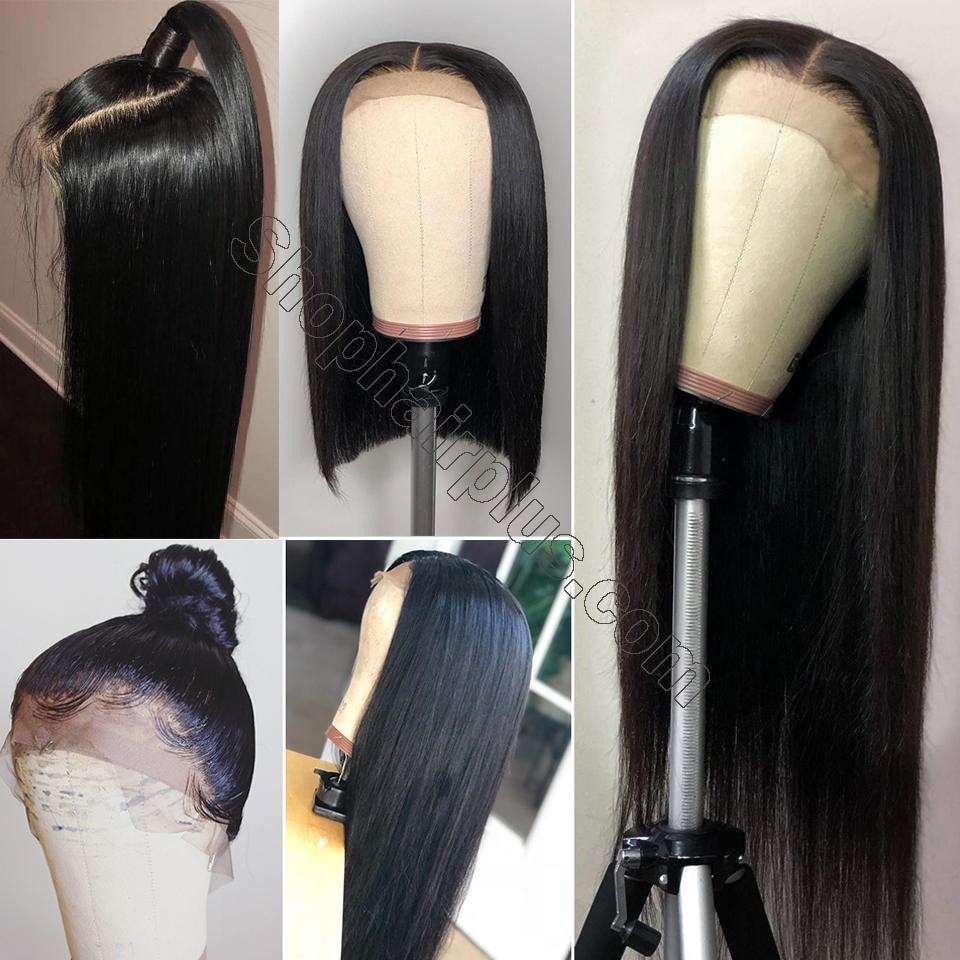 9A Grade 13*4/13*6/360 Lace Front Silky Straight Human Hair Wig, 180%/150% Densit 5