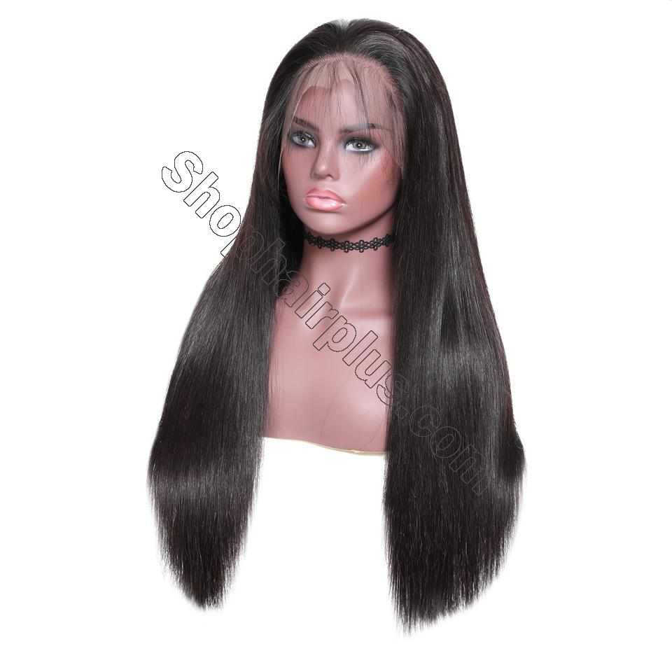 9A Grade 13*4/13*6/360 Lace Front Silky Straight Human Hair Wig, 180%/150% Densit 10