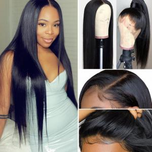 9A Grade 13*4/13*6/360 Lace Front Silky Straight Human Hair Wig, 180%/150% Densit