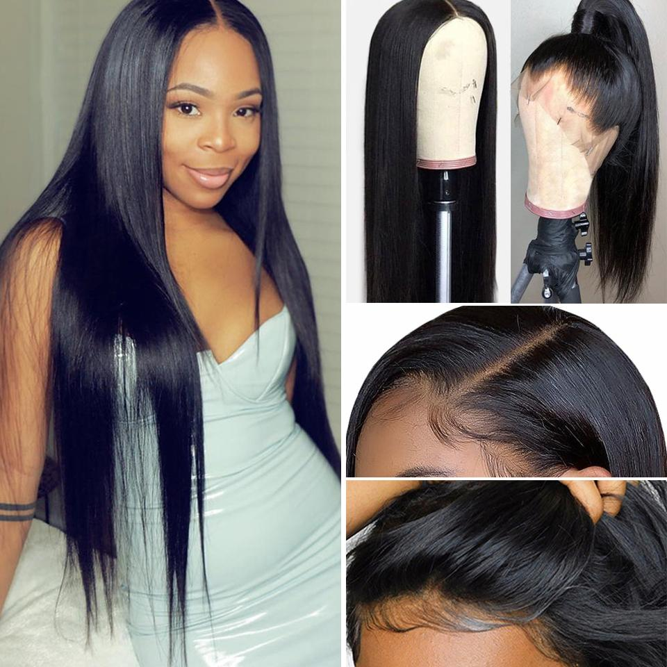 9A Grade 13*4/13*6/360 Lace Front Silky Straight Human Hair Wig, 180%/150% Densit 12