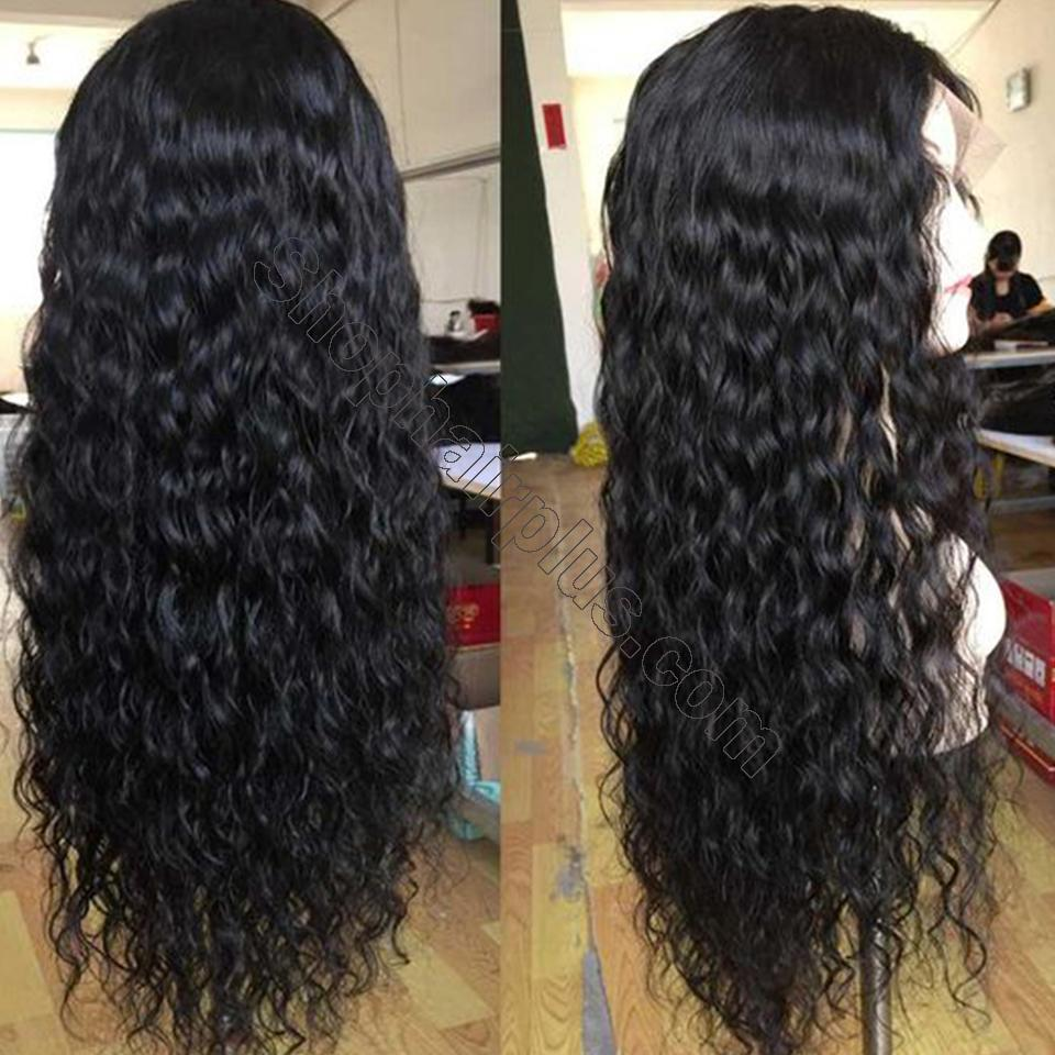 9A Grade Water Wave 13*6 Lace Front Human Hair Wig, 150% Densit 11
