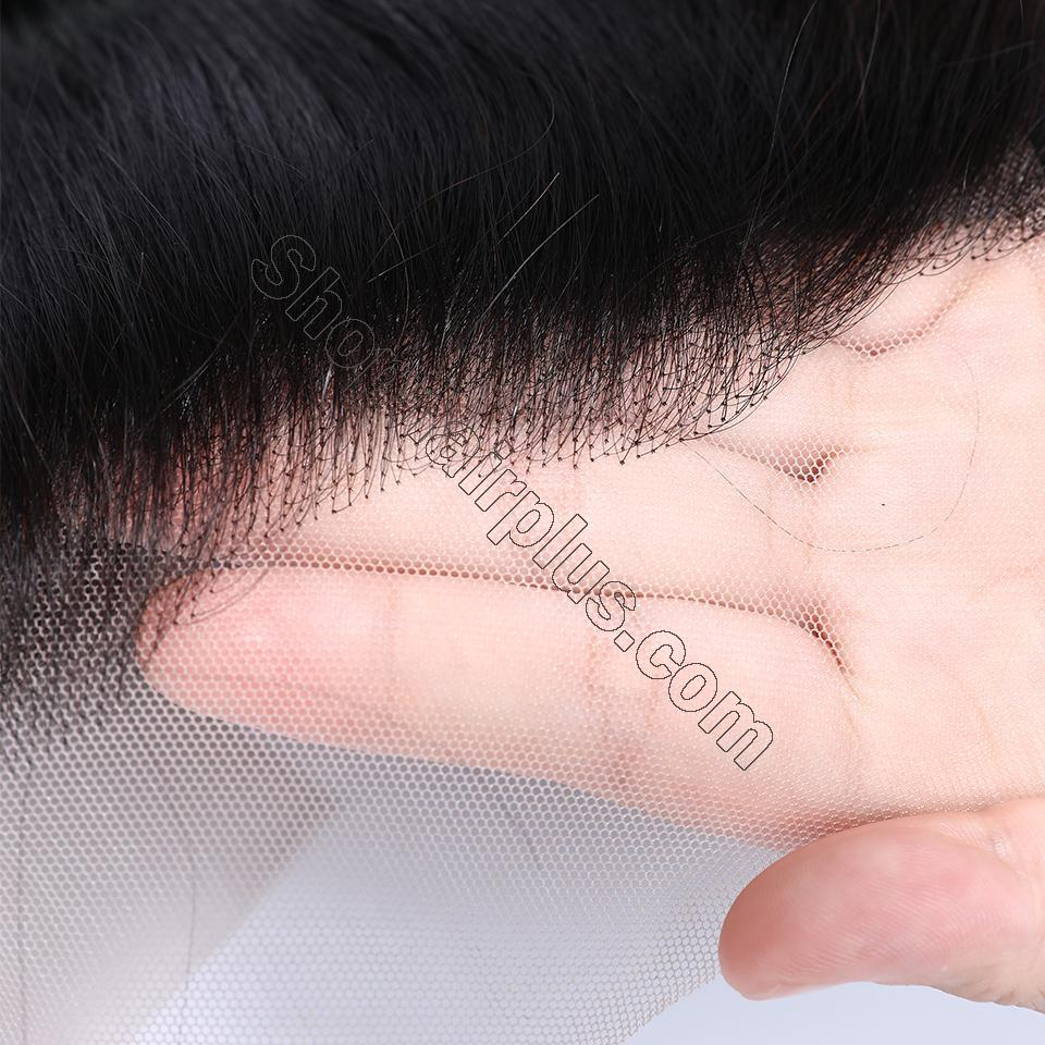 9A Invisible Lace Straight Hair Human Hair Wigs 150%/180% Density Lace Front Wigs Pre Plucked 5