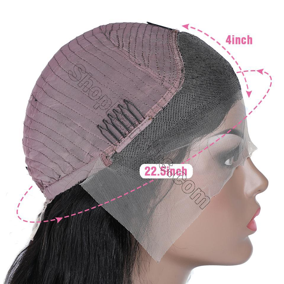 9A Invisible Lace Straight Hair Human Hair Wigs 150%/180% Density Lace Front Wigs Pre Plucked 7