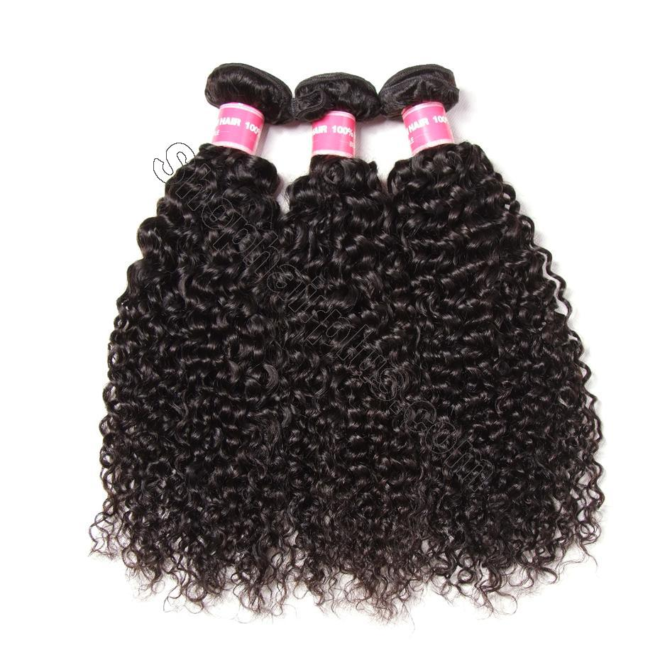 Brazilian Curly Hair 13x4 Lace Frontal With Bundles 3Pcs/Pack 3