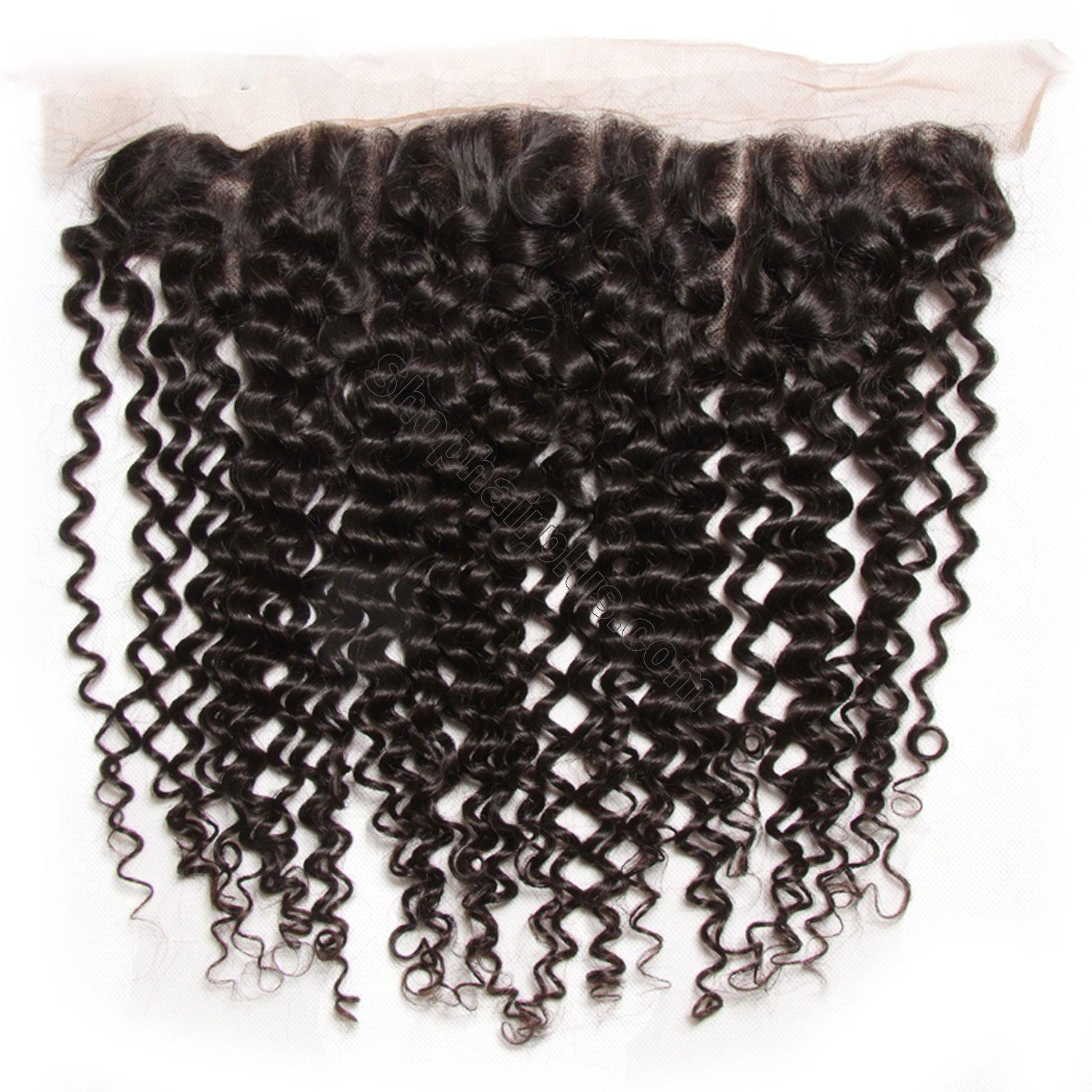 Brazilian Curly Hair 13x4 Lace Frontal With Bundles 3Pcs/Pack 4