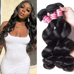 Brazilian Loose Wave Virgin Hair Weave 3 Bundles Unprocessed Human Hair Extensions