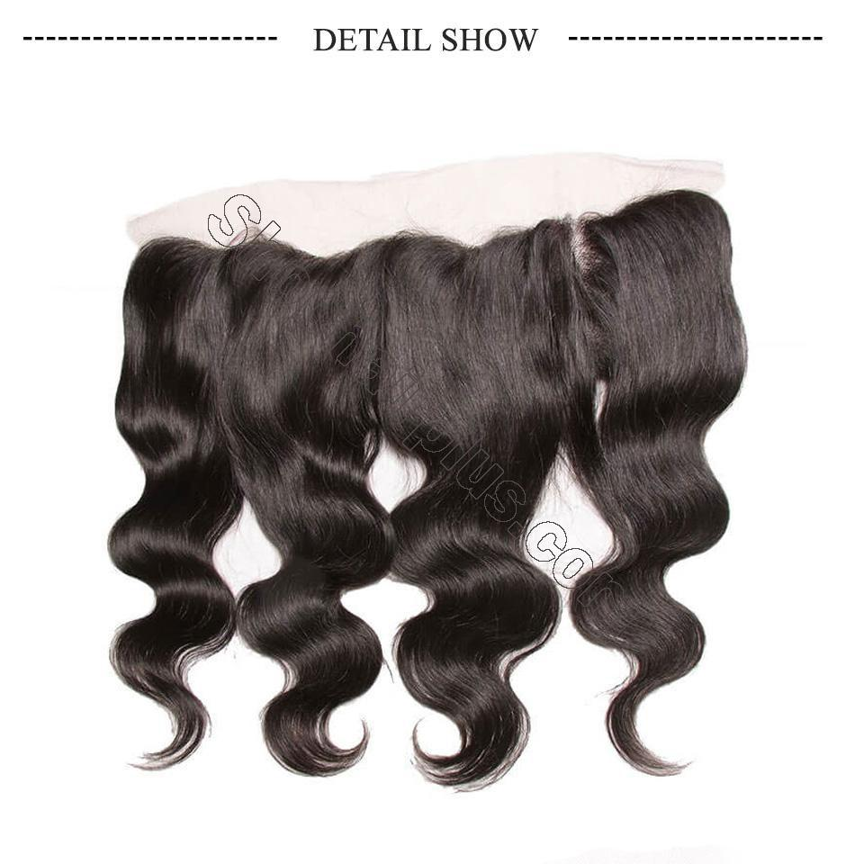 Brazilian Virgin Body Wave Hair 3 Bundles With Lace Frontal Hair Closure 4