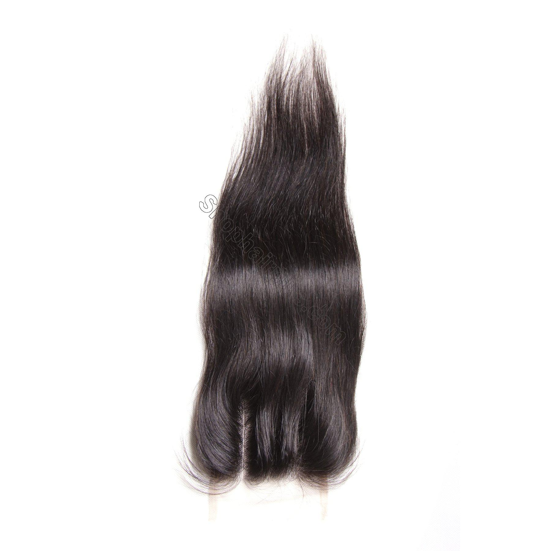 Hot sale Straight Hair 4x4 Lace Closure 5
