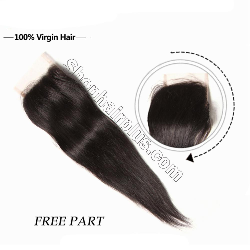 Hot sale Straight Hair 4x4 Lace Closure 6