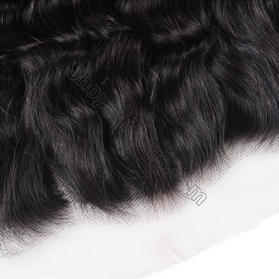 Loose Deep Wave Frontal Closure 13x4 Lace Frontal Pre Plucked 150% Densit 4