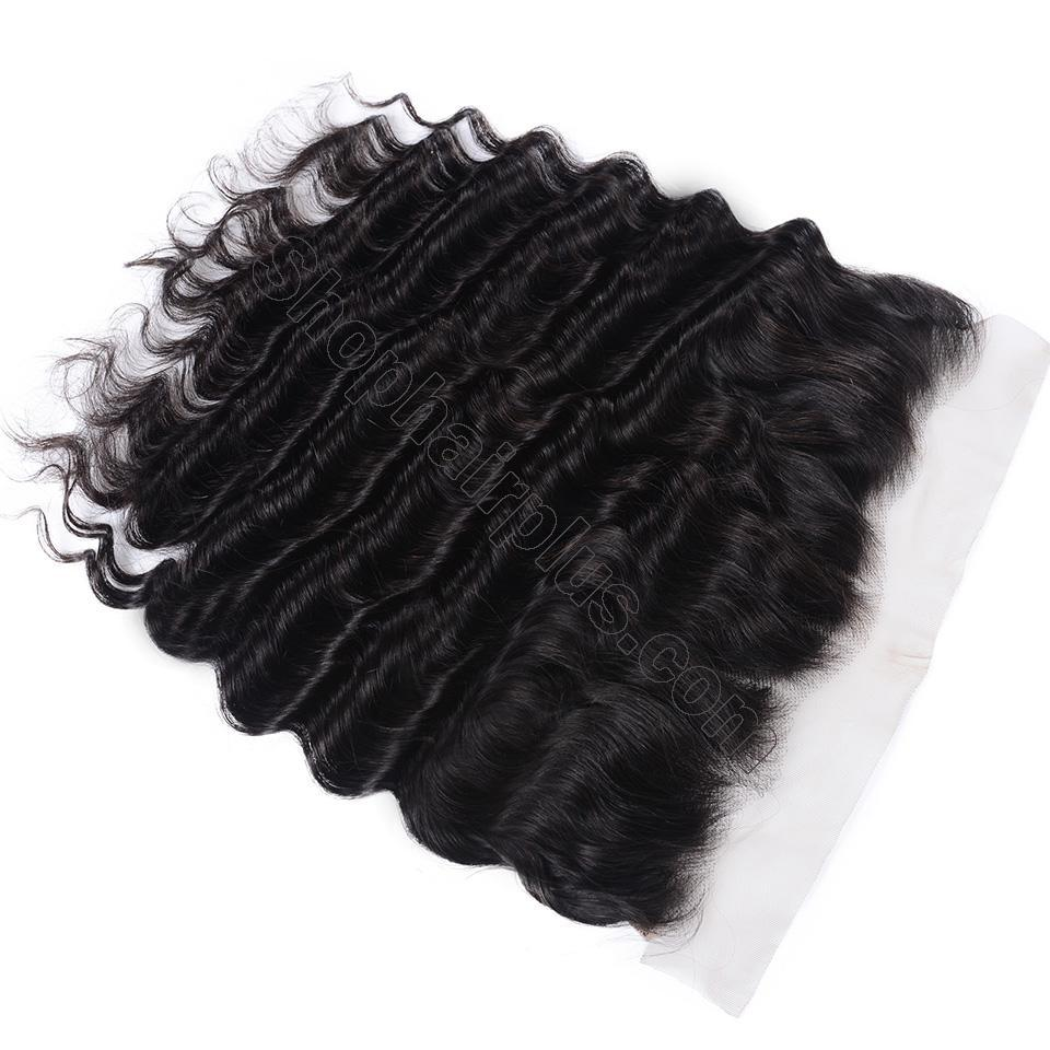 Loose Deep Wave Frontal Closure 13x4 Lace Frontal Pre Plucked 150% Densit 5