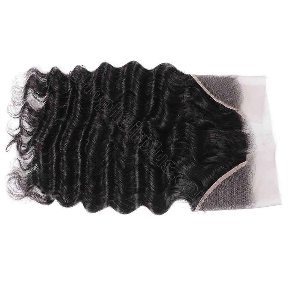 Loose Deep Wave Frontal Closure 13x4 Lace Frontal Pre Plucked 150% Densit 6