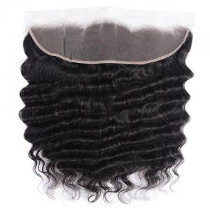 Loose Deep Wave Frontal Closure 13x4 Lace Frontal Pre Plucked 150% Densit
