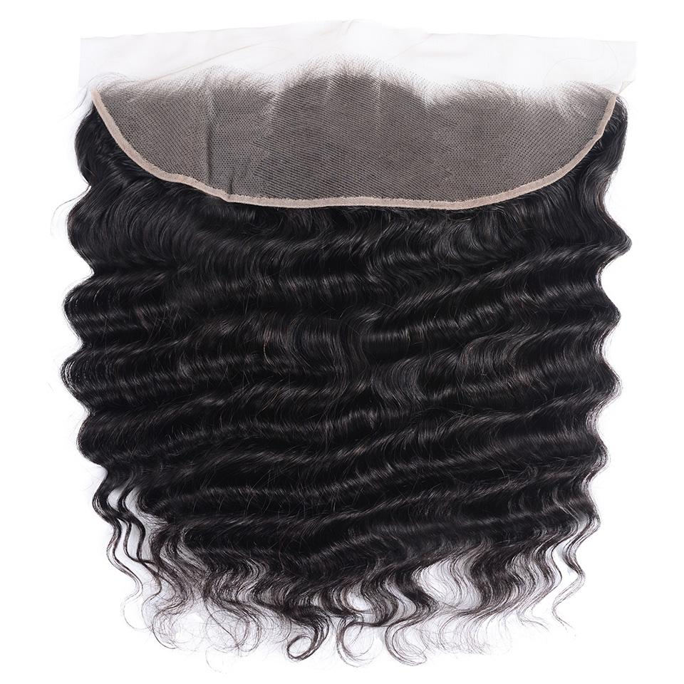 Loose Deep Wave Frontal Closure 13x4 Lace Frontal Pre Plucked 150% Densit 8