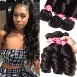 Malaysian Loose Wave 3 Bundles, Virgin Malaysian Human Hair On Sale