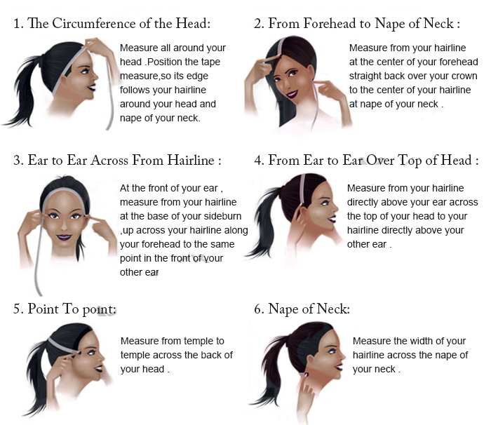 How to measure your cap size for a wig