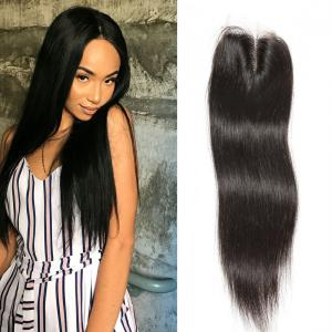 Peruvian Straight Virgin Hair 4x4 lace Closure, Unprocessed Human hair Natural Color