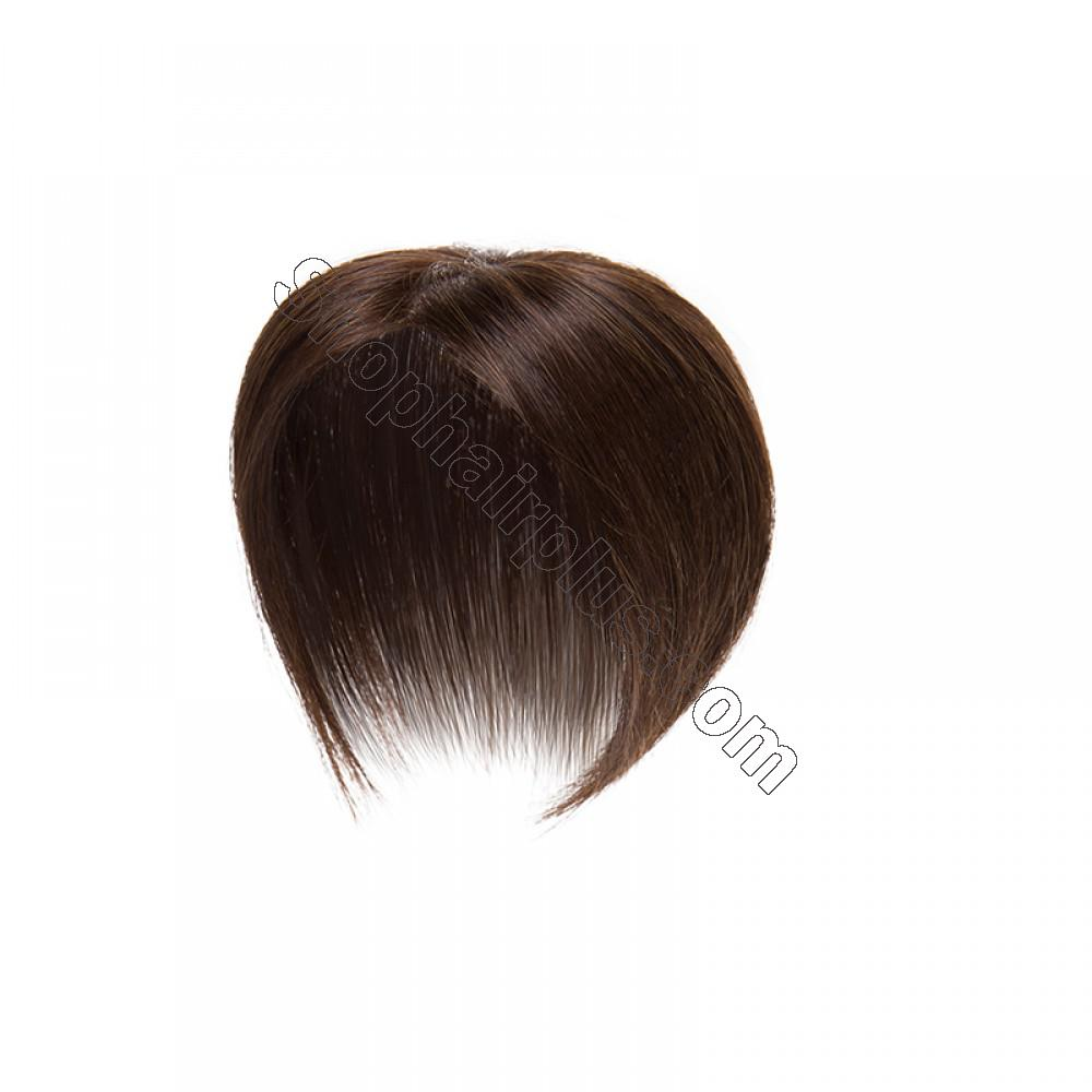 Women's Human Hair Toppers For Hair Loss or Thinning Hair #4 Medium Brown 5
